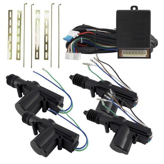 Imagem de TE4PCN - Kit Trava Eletrica 4 Portas e 2 Masters Cinoy (ponta giratória)