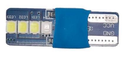 Imagem de LT10-828 - Led T10 8 2835 SMD 12V Branco (liga 3 segundos azul)