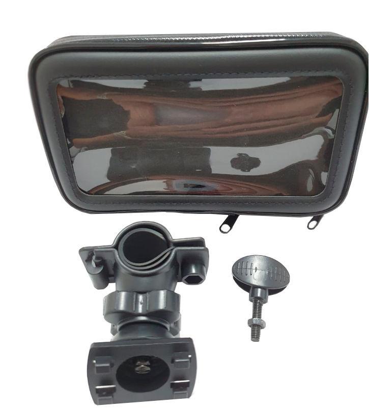 Imagem de SCEL-MOTO-01-  Suporte c/ Case Celular Moto ou Bike (Abertura 6,3cm)
