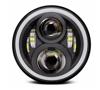 Imagem de FLR30W-6K - Farol Led Redondo 30/60W c/ Angel Eyes DRL Alta/Baixa 6000K Bivolt 10/30V (Diametro 7 polegadas)