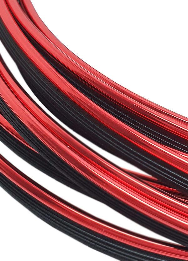 Imagem de FD5M-VM -  Fita Friso Decorativo 5 Metros Vermelho Metalizado c/ Espátula de Aplicação