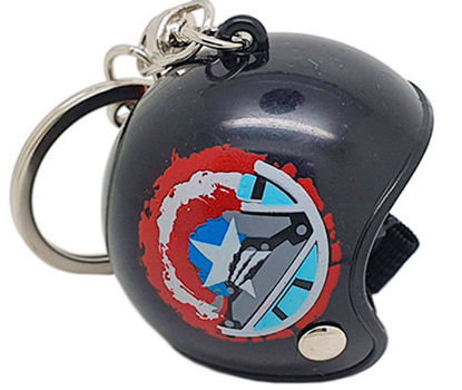 Imagem de CH5078  - Chaveiro Capacete Capitão América VS Homem de Ferro