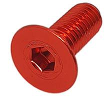 Imagem de PAN01-M8x20-VM - Parafuso Anodizado M8 x 20mm Allen Flat Alumínio Vermelho