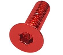 Imagem de PAN01-M6x20-VM -   Parafuso Anodizado M6 x 20mm Allen Flat Alumínio Vermelho