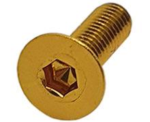 Imagem de PAN01-M6x20-OU  -  Parafuso Anodizado M6 x 20mm Allen Flat Alumínio Ouro