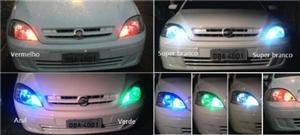 Imagem de Lâmpada RGB T10 Pingo Esmagada 1 Led SMD  12V (Muda de Cor)