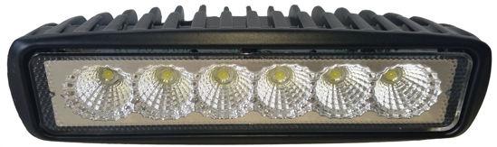 Imagem de B628 - Farol Milha Retangular OFF ROAD 6 LEDs 18w Bivolt
