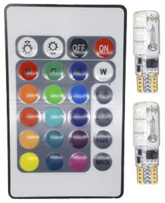 Imagem de C370 - Kit T10 6 5050 RGB Canceller (2 lampadas + Controle)