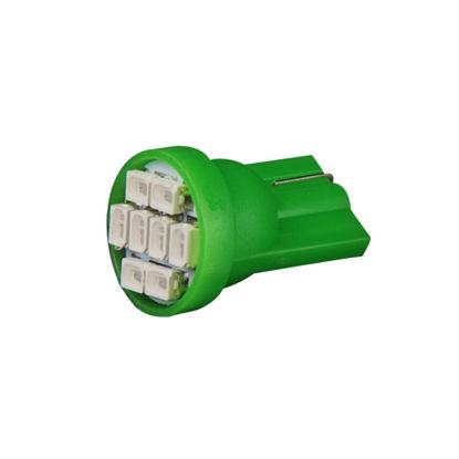 Imagem de T201 - T10 Esmagada 8 1206 SMD Verde (meia-Luz) 24V
