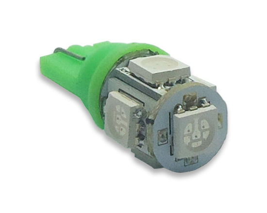 Imagem de T126 - T10 Esmagada 5 SMD Verde (meia-luz) 24V