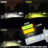 Imagem de FLC3 - Farol Led 3 cores 6K/4,3K/3K 4000LM Ray X