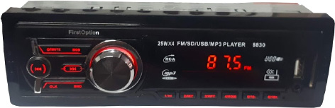 Imagem de RADSBT03 - Radio USB/SD/MP3/FM sem BLUETOOTH 4X25W FirstOption