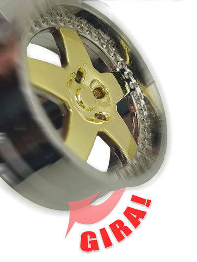 Imagem de CH5015 - Chaveiro Tuning Roda Dub Cromada