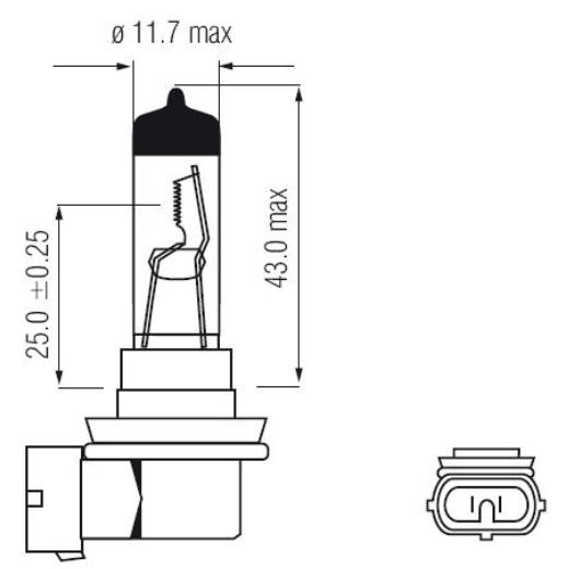 Imagem de LHA011 - Lampada Convencional H11 55w