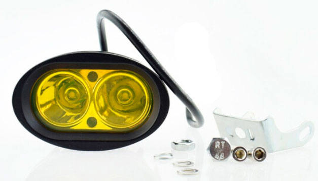 Imagem de F20W-O3K - Farol Oval 3000K 2 LEDs CREE 20W 12V (alta/baixa/estrobo)