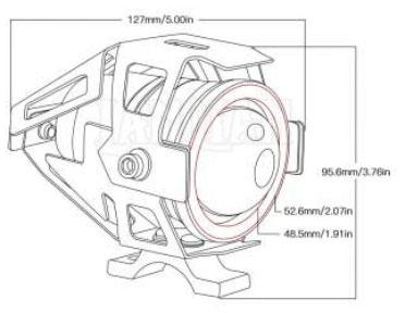 Imagem de B620CN - Farol de Milha Led U5 Auxiliar Moto 20W 10-80V (baixa/alta/estrobo) Cinoy