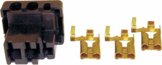 Imagem de EC903-4218 - Chicote 3 vias fêmea Volkswagen Kit do Alternador VW
