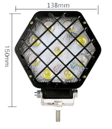 Imagem de F27W-GP - Farol Off Road 9 LED 27W Grade Preta Bivolt (diametro 14cm)
