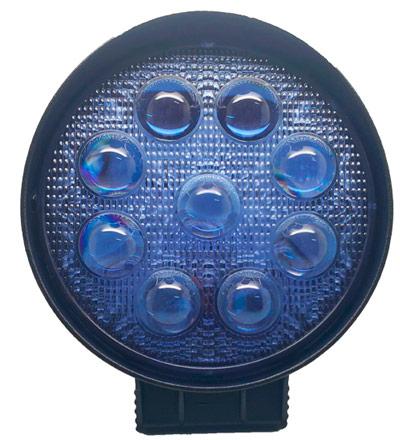 Imagem de F27W-4DAZ - Farol Spot Pulverização 9 Leds 27W 4D BIVOLT Azul (diamentro 11,4cm, espessura 4cm)