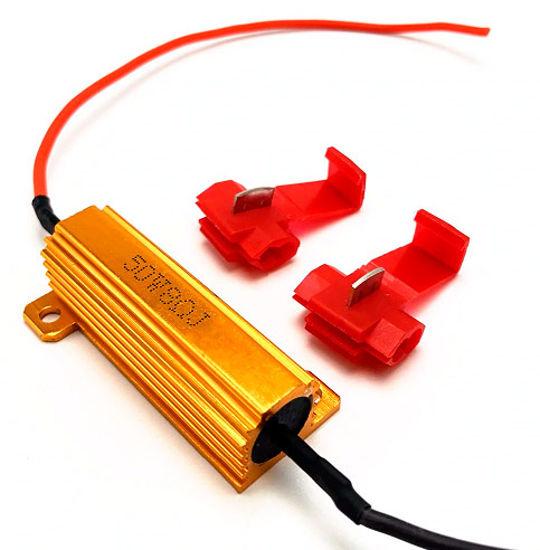Imagem de CANL50W-8RJ - Resistor Lampada Led Canceller 50W 8RJ c/ Presilhas