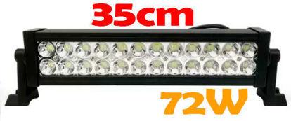 Imagem de BL72W-SMD - Barra LED SMD 72W Off Road 35cm 12-30V (L:37cm x A:8cm x P:6.5cm)