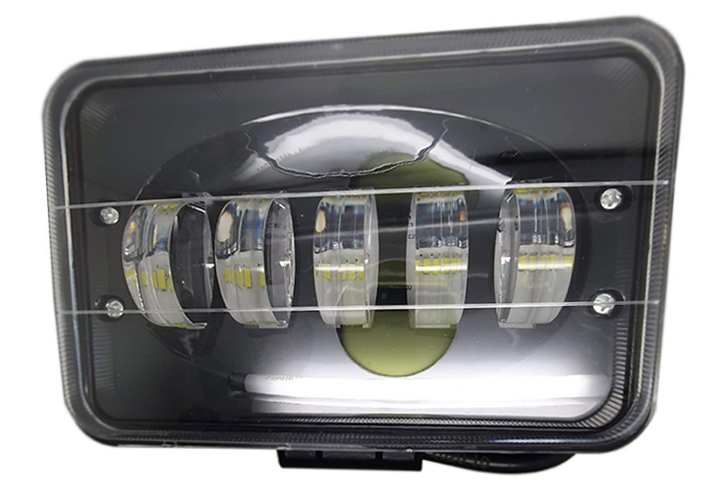 Imagem de F30W-M - Farol LED Retangular Mascara Negra Off Road 90W BIVOLT - 12v/24v (Feixe Linear)