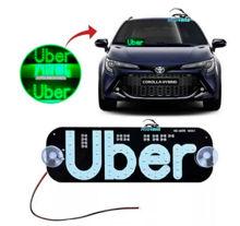 Imagem de LETUBER-VD - Letreiro Placa Uber Verde 12V