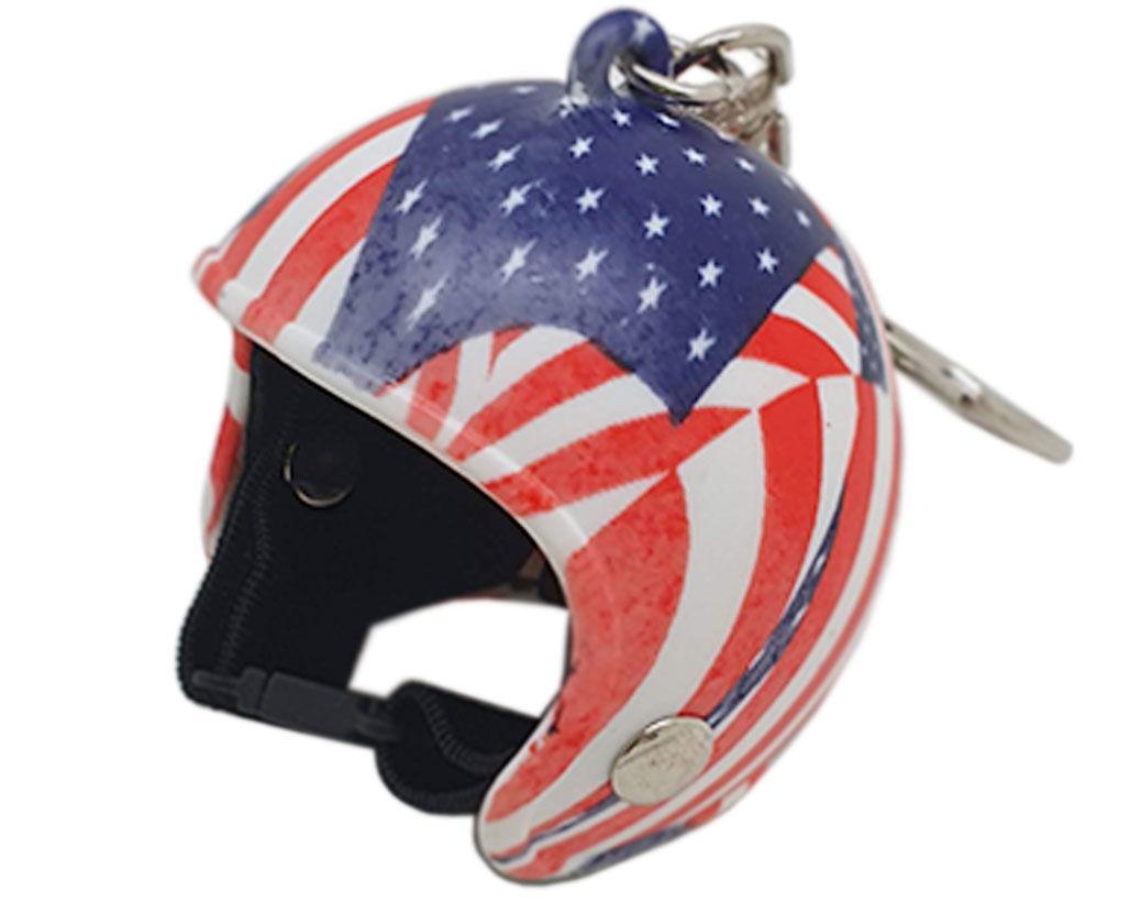 Imagem de CH5081  - Chaveiro Capacete Bandeira Americana
