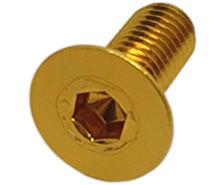 Imagem de PAN01-M8x20-OU - Parafuso Anodizado M8 x 20mm Allen Flat Alumínio Ouro