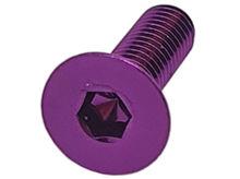 Imagem de PAN01-M6x20-RX -  Parafuso Anodizado M6 x 20mm Allen Flat Alumínio Roxo