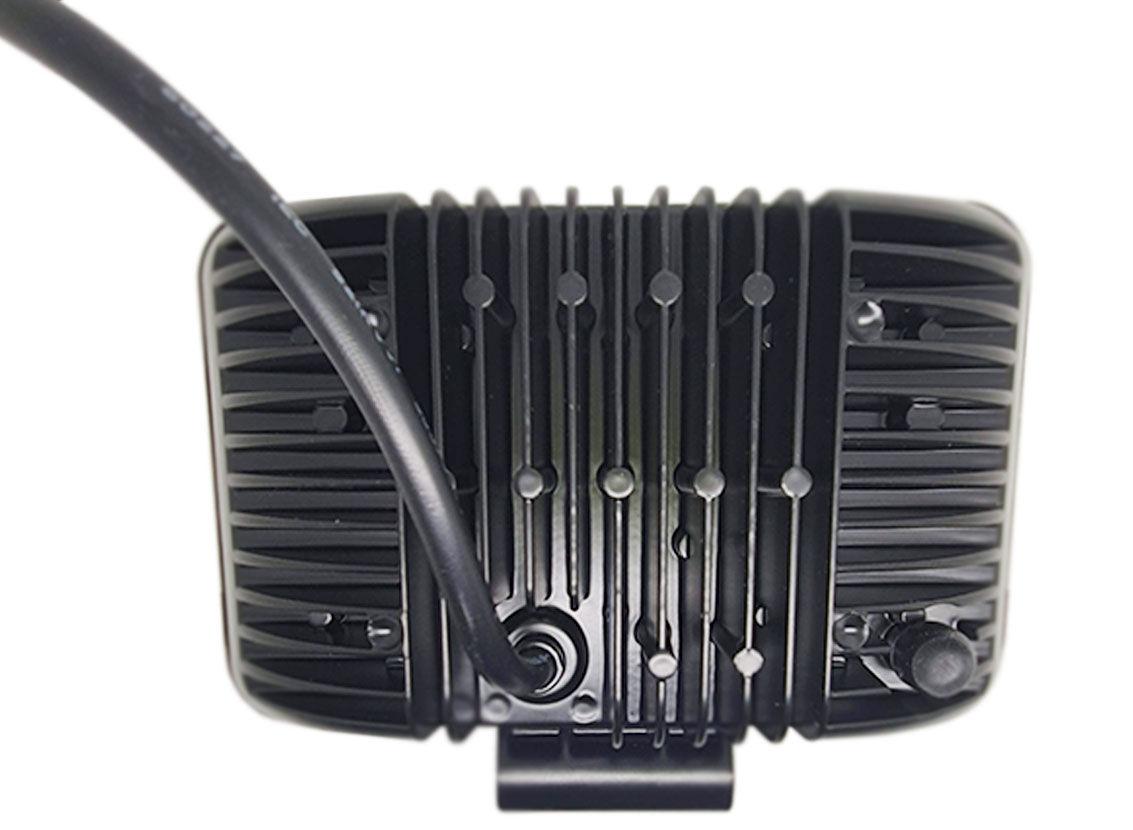 Imagem de F30W-M  - Farol Retangular Mascara Negra Off Road 30W BIVOLT-12v/24v (Feixe Linear, 17 X 10)