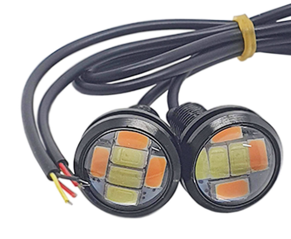 Imagem de MINILED-DRL  -  Mini Led DRL Eagle Eye 6W 240 Lumens Branco/Ambar 12V (23mm)